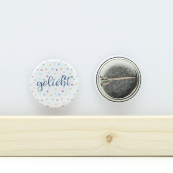 Button geliebt 25mm